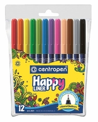 Linery super tenké 0,3 mm CENTROPEN HAPPY LINER 12 ks