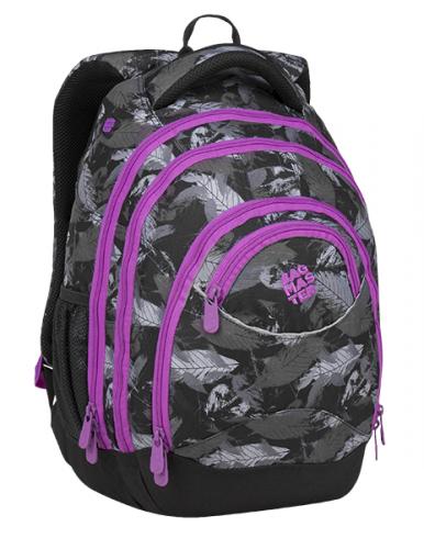 1fb08ebb04 Studentský batoh BAGMASTER ENERGY 9 A violet gray black - POŠTOVNÉ ZDARMA